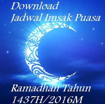 Jadwal Imsak Bulan Ramadhan 1437H / 2016M