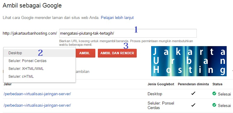 cara SEO melalui fetch as google di webmaster tools