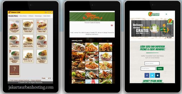 cara membuat website restoran yang responsif