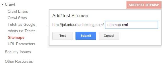kirim peta situs ke google untuk optimasi website