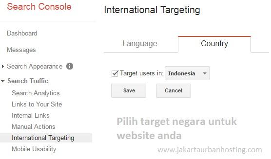 pilih target negara untuk optimasi website anda