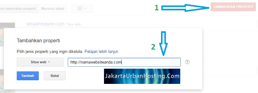 tambah website ke google untuk optimasi website