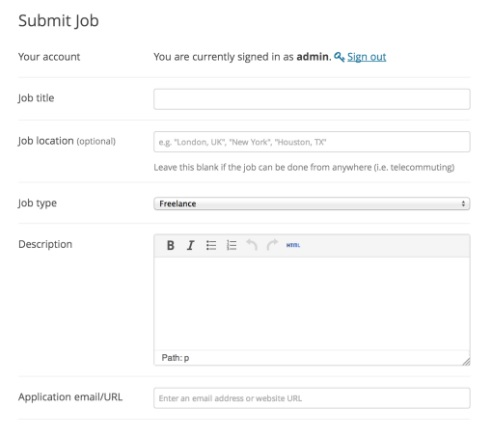 fitur job listing