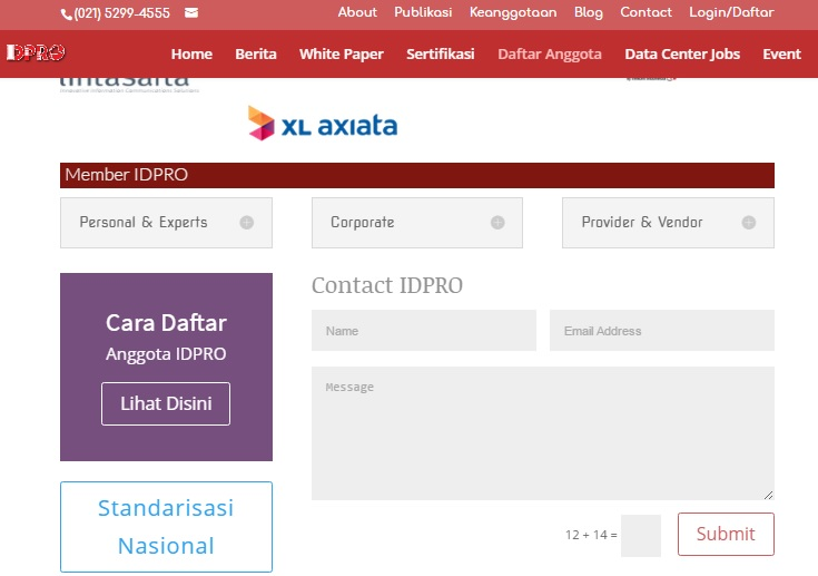 halaman direktori IDPRO