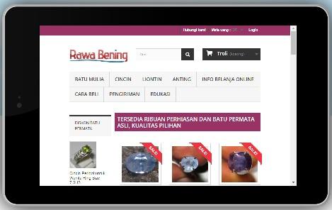 contoh website untuk jual permata online